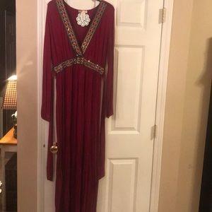 Long sleeved maxi dress size L